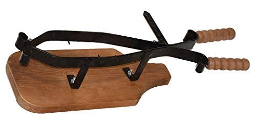 Fermaprosciutto portaprosciutto con cerniera e base in legno made in umbria