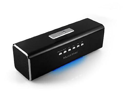 Technaxx MusicMan MA Soundstation Haut-parleur stéréo pour Lecteur mp3/iPod/iPhone Noir