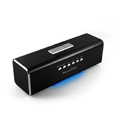 Technaxx Musicman MA - Altavoz portátil (Bluetooth, Jack 3.5 mm, USB, 2 x 3 W RMS, UKW, 150 Hz - 18 kHz), color negro