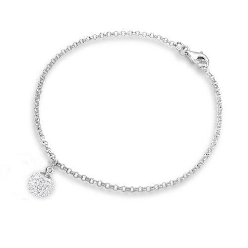 Elli Armband Damen Kugel mit Swarovski® Kristalle in 925 Sterling Silber