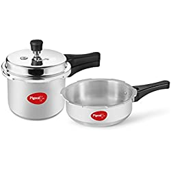 Pigeon 2 & 3Ltr Outer Lid Aluminium Pressure Cooker Combo