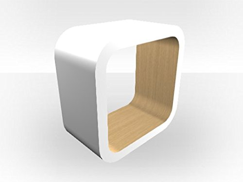 Bianco esterno cubo Media unit Natural Oak