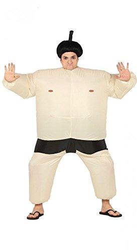 shoperama Aufblasbares Sumo Ringer Herren-Kostüm AirSuits Fatsuit Karneval Fasching Luft