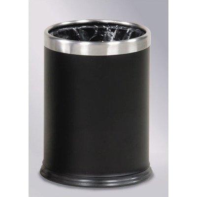 3.5-Gal Hide-A-Bag Wastebasket [Set of 3] Color: Powder Coated Black