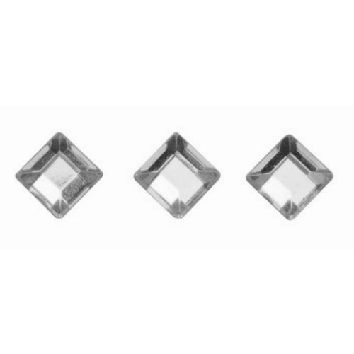Preisvergleich Produktbild GLOREX 6 1242 232 P und D Quadrate Crystal Selbstklebend,  Plastik,  Silber,  14.5 x 8.6 x 0.2 cm