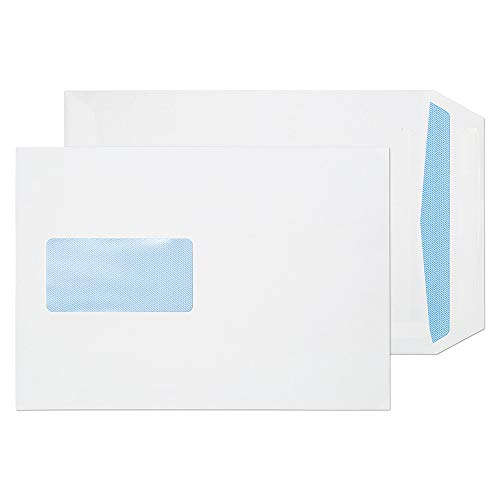 Blake Purely Everyday C5 229 x 162 mm 85gsm Self Seal Window Pocket Envelopes (FL3084) White - Pack of 500