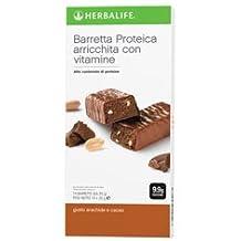 Barritas de proteínas, de cacao y cacahuetes (1paquete de 14barritas)