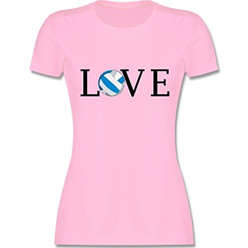Volleyball - Volleyball Liebe Love - tailliertes Premium T-Shirt mit Rundhalsausschnitt für Damen Rosa