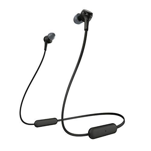 Sony WI-XB400B kabellose In-Ohr Kopfhörer (eingebauter Sprachassistent, Neckband Design, Bluetooth 5.0, NFC), schwarz