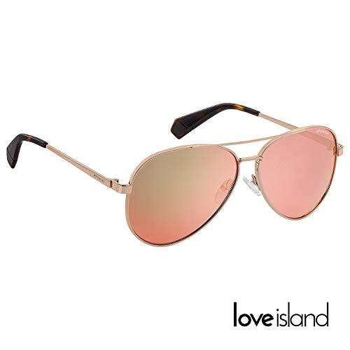 Polaroid x Love Island Mirrored Aviator in rose-gold