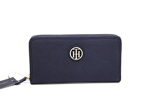 Tommy Hilfiger Damen Wallet Passcase Portmonnaie Geldbörse Geldbeutel dunkelblau