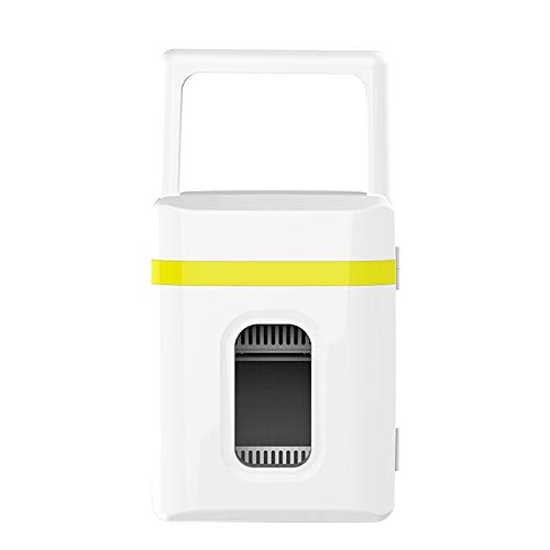 Große Kapazität Silent Portable Hot and Cold Dual-use-Mini-Auto Kühlschrank, Cold and Warm Box Geeignet Für Car Family Camping Picknick,Yellowstrip -