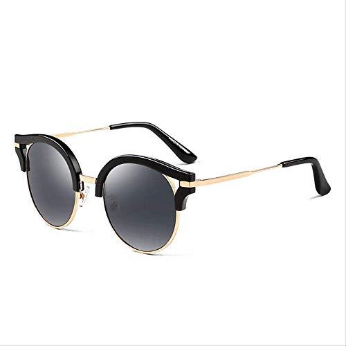 ZCFDDP Sonnenbrille Polarisierte Sonnenbrille Männer & Frauen Liebhaber Klassische Retro Großen Rahmen Schild Anti Uv400 FahrbrilleSchwarz Asche Linse