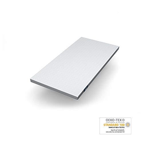 Genius Eazzzy Topper (Größe 100 x 200 x 7 cm) als Matratzenauflage für Matratzen & Boxspringbetten | Viskoelastischer Matratzentopper geeignet für Allergiker (weitere Größen erhältlich)