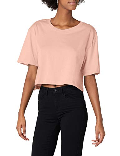 Urban Classics TB1555 Damen T-Shirt Ladies Short Oversized Tee Light Rose, S