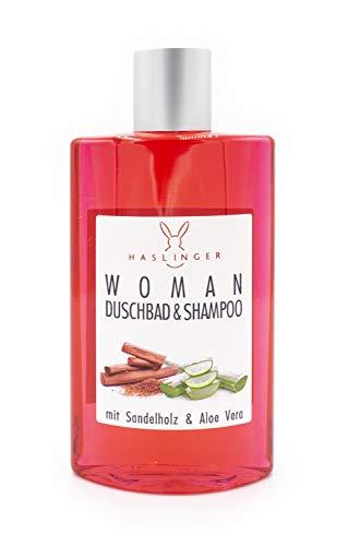 Aloe-vera-duschbad (Haslinger WOMAN Sandelholz & Aloe Vera Shampoo/Duschbad 200 ml)