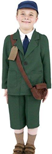 Fancy Ole - Jungen Boy Pfadfinder 40er Jahre Retro Uniform Kostüm , 116, Grün