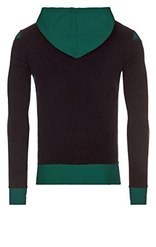 WOOSAH Herren Sweatshirt Shaco navy / white / green (4037)