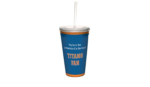 Tree-Free Greetings cc34655 Titans College Basketball Artful Traveler Double-Walled Cool Cup with Reusable Straw 16-Ounce