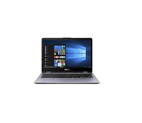 "ASUS VivoBook Flip 14 TP410UA-EC228T - Ordenador portátil Convertible de 14"" FHD (Intel Core i3-7100U, 4 GB RAM, 1 TB HDD, Intel HD Graphics 620, Windows 10 Home) Gris Oscuro - Teclado QWERTY Español"