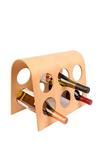 Europäisches Design bordeaux Modular Hartholz für 6Flaschen Wein Rack, philippinischen Mahagoni -