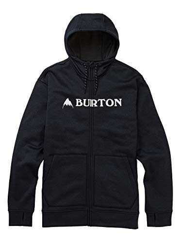 Burton Herren Oak Zip-Pullover, True Black Heather, S -