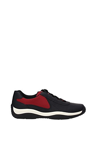 Sneakers Prada Uomo Pelle Nero e Porpora 4E2905NEROPORPORA1 Nero 43EU