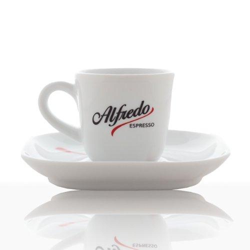 Alfredo Espresso-Tasse, Farbe weiss - 6Stk. - inkl. Untertassen