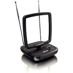Philips SDV5120/12 Antenne d'intérieur numérique pour TV 36 dB Design LOOP Noir