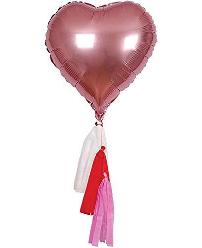 Meri meri kit san valentino palloncino gigante a forma di cuore con stelle filanti (confezione da 6)