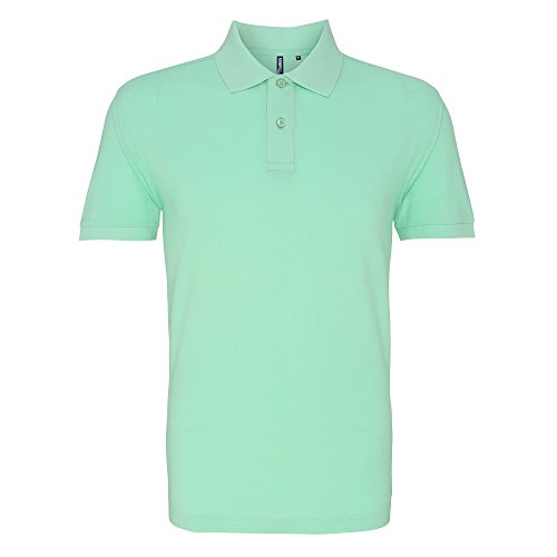 Asquith & Fox Herren Polo-Shirt, Kurzarm Mint