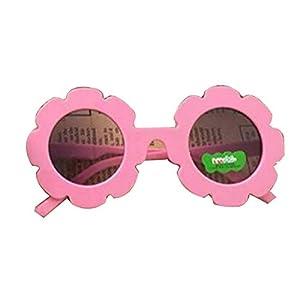 Gugutogo Marco de plástico de Encaje Espejo Decorativo para niños Lente Redonda Gafas de Sol de Moda para bebés Gafas Lindas anti-UV400 Salvajes 7