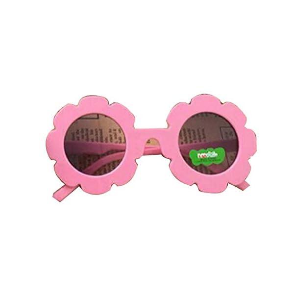 Gugutogo Marco de plástico de Encaje Espejo Decorativo para niños Lente Redonda Gafas de Sol de Moda para bebés Gafas… 1