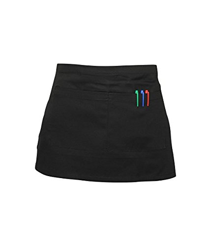 short-waist-apron-with-pocket-chefs-waiters-cooks-bar-apron-black-white-catering