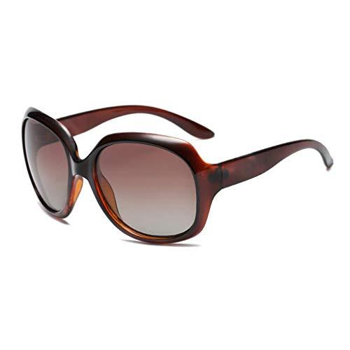 YIWU Brillen Die Neue Frau Sonnenbrille Female Polarizer Retro Sonnenbrille Female Black Big Box Hipster Fahrspiegel Weibliche Sonnenbrille Brillen & Zubehör (Color : 3)