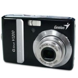 Genius G-shot V1200 12mp Point And Shoot Camera (black) With 3x Optical Zoom