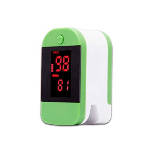 ZC Dawn Sauerstoffmonitor Kleinkind, Pulsoximeter Fingertip für Erwachsene und Kinder mit SpO2 Pulsoximeter, Pulsmesser mit Lanyard, automatische Abschaltung,Grün