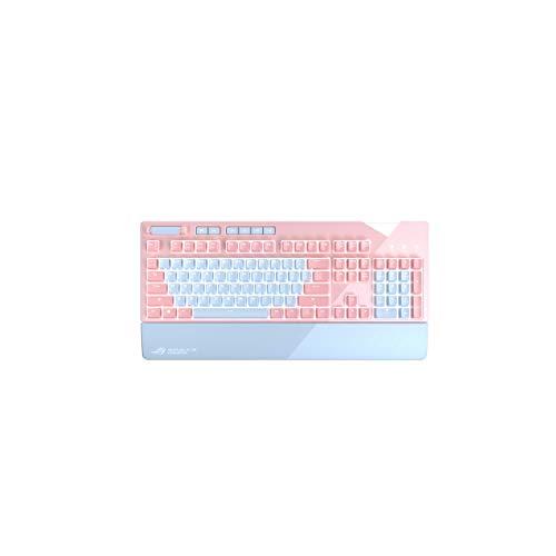 ASUS ROG Strix Flare PNK LTD mechanische Gaming-Tastatur (Cherry-MX-Schalter, Aura Sync, USB-Passthrough) pink