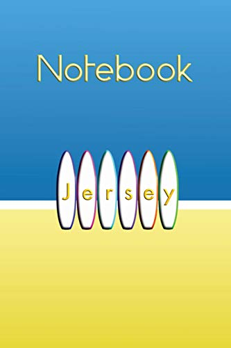 Jersey White Surfboards on The Beach Notebook: Celebrate surfing on the largest of the Channel Islands in Great Britain.  Summer ocean surf themed ... to organise and refer back to notes easily.