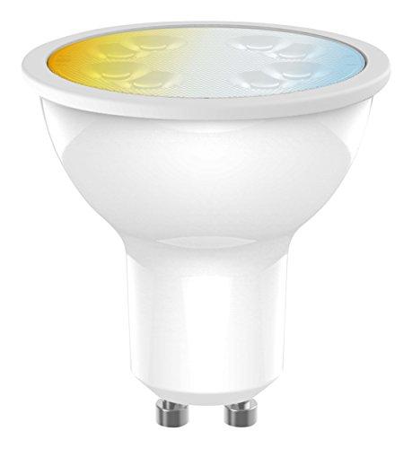 tint, das smarte Lichtsystem von MÜLLER-LICHT - LED Lampe Reflektor GU10 white (Weißtöne 2700-6500K, ersetzt >50W Glühbirne, funktioniert mit Amazon Alexa)