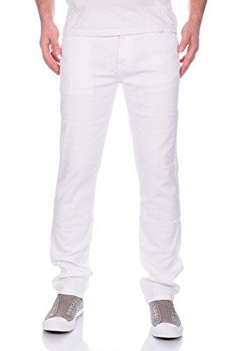 Herren Jeans Hose Straight Fit Versch. Farben ID310 Weiß