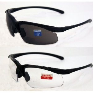 Global Vision Set of 2 Apex 1.5 Bifocal Safety Glasses - Clear and Smoke Lens by Global Vision Eyewear