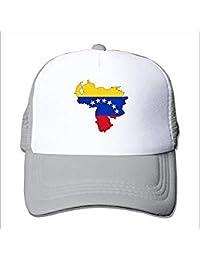 rongxincailiaoke Gorras béisbol Venezuela Flag Map Nylon Adult Baseball Cap Trucker Hat