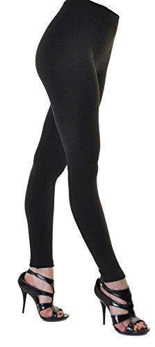 Mix lot neue Damen Fleece gefüttert weiche Thermo voller Länge Leggings Frauen Plus Size footless extra warm dehnbar Strumpfhosen Winter Casual Wear S / M / XL (S/M 36-38, schwarz)