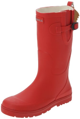 Aigle Woodypop, Unisex-Kinder Gummistiefel, Rot (Cerise), 25 EU