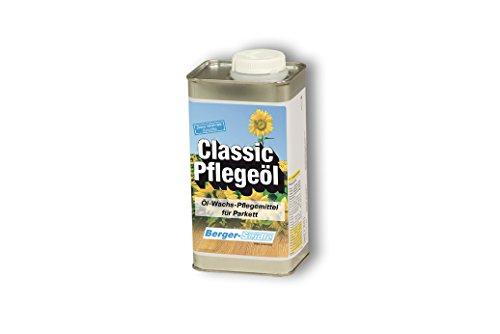 Berger-Seidle Classic Pflegeöl Farblos, Öl-Wachs-Pflege für fast alle ölimprägnierten Holzflächen (1 Liter)