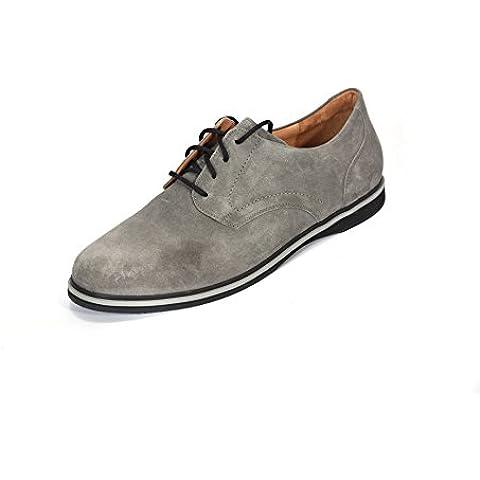 Ganter Giacomo - Zapato bajo de cordones, anchura G, para Derby, gris (grafito 6300), 51 EU (15 UK para hombres)