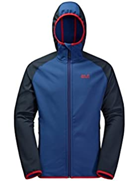 Jack Wolfskin Softshell para hombre, hombre, azul real, extra-large