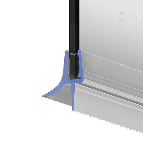 100cm M22 - Ersatzdichtung für 5mm/6mm/ 7mm/ 8mm Glasdicke Wasserabweiser Duschdichtung Schwallschutz Duschkabine