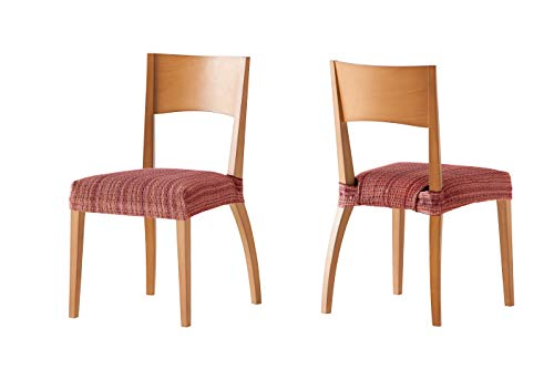 Pack de 2 Fundas de Asiento para silla modelo MEJICO, color BURDEOS,...